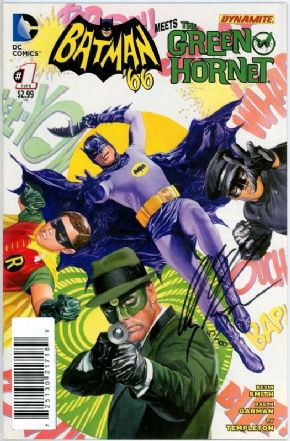 Batman '66 Meets The Green Hornet #1 Dynamic Forces Signed Alex Ross DF COA DC comic book